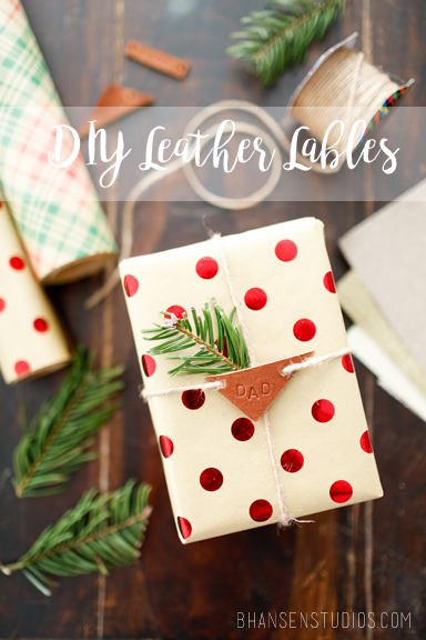 Handmade leather labels and other simple leather projects