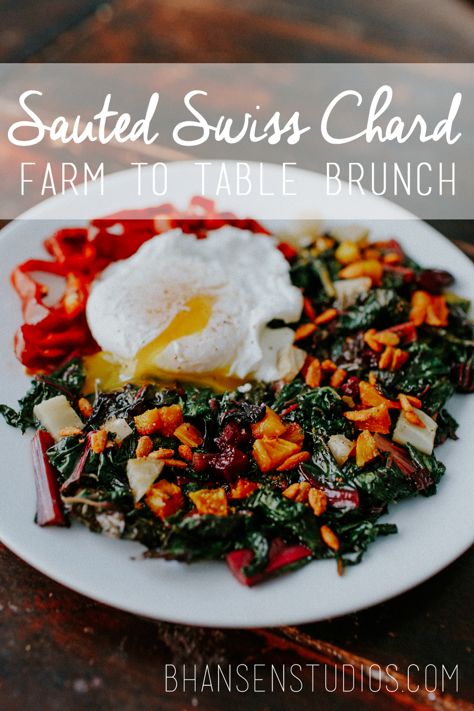 Easy summer farm to table brunch. Swiss chard saute brunch