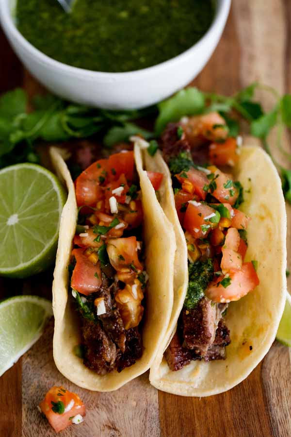 shirt steak chimichurri tacos you'll want to eat everyday