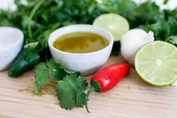 delicious Chimichurri sauce tacos
