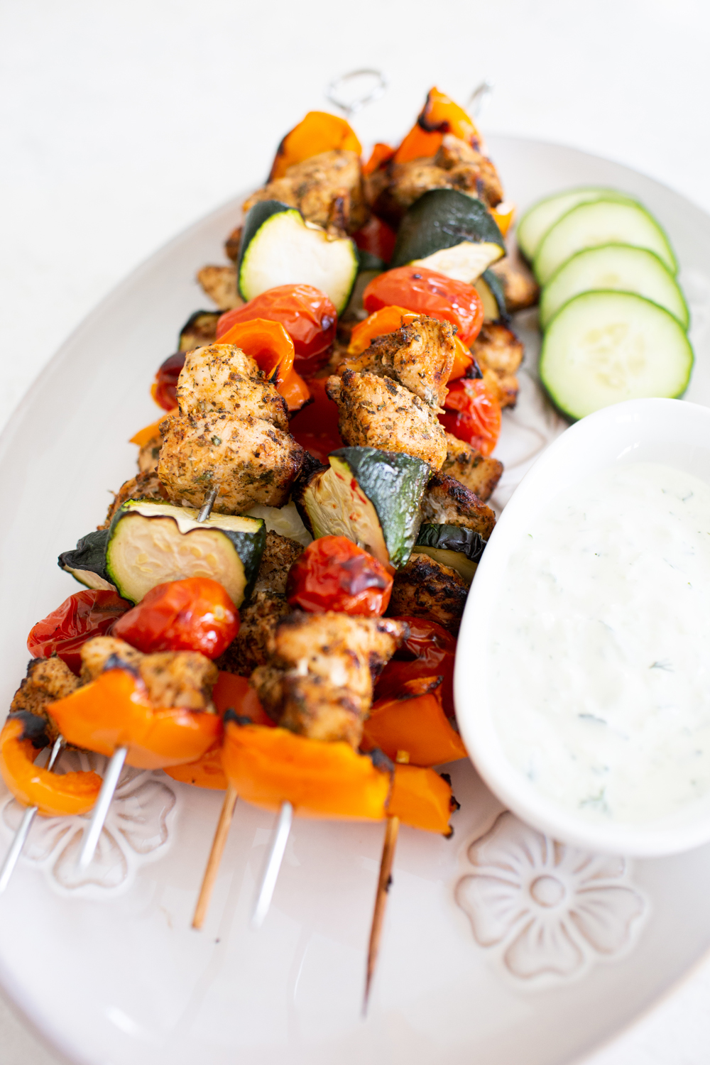 tasty greek seasoned chicken kabobs